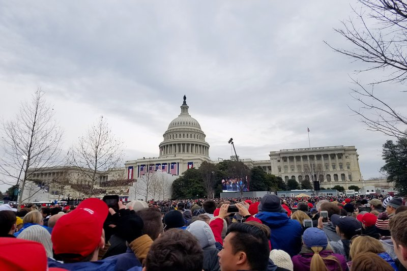 The+crowd+gathers+at+the+Capitol+Building+to+witness+the+58th+Presidential+Inauguration