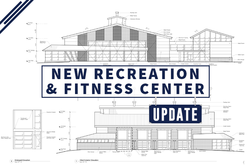 Student recreation, fitness center construction continues