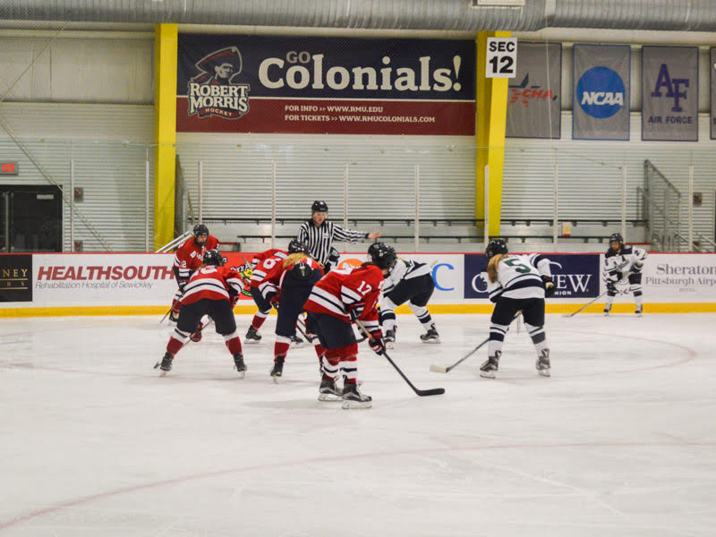 RMU+used+a+third-period+goal+to+power+past+Lindenwood.