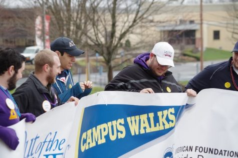 Students bear the cold to advocate suicide prevention
