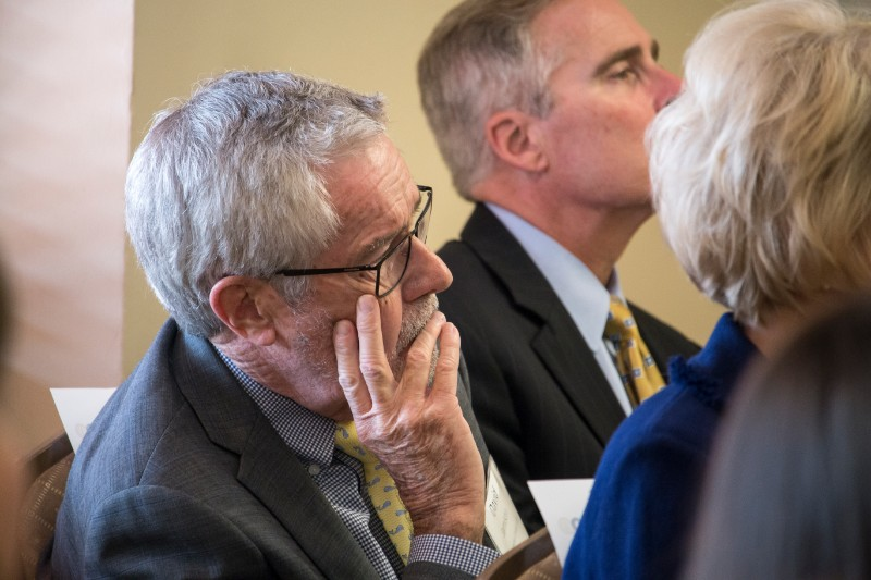Provost Jamison listens in on the sexual assault presentation held at the University of Pittsburgh.
