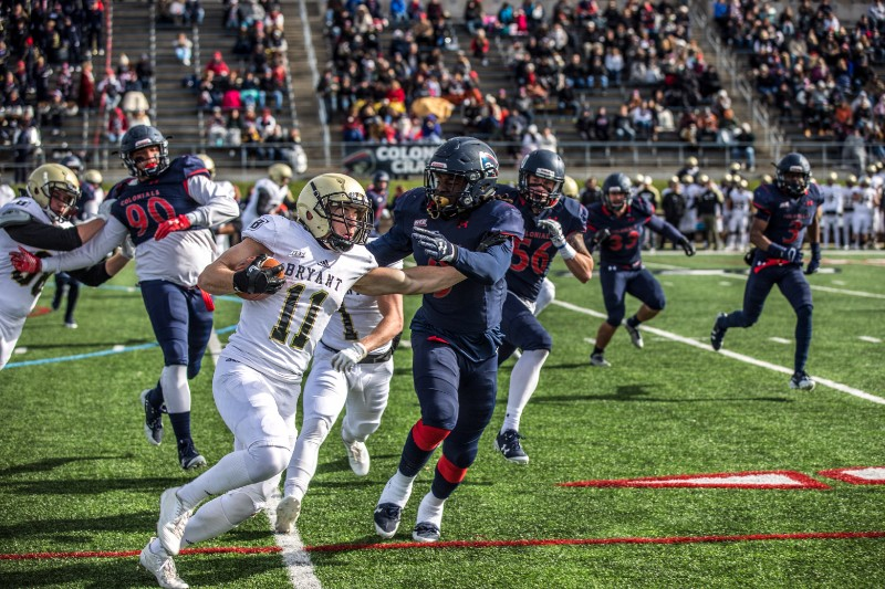 On+Saturday+November+11th%2C+the+RMU+Colonial%27s+Football+team+finished+their+home+game+season+by+taking+on+the+Bryant+Bulldogs.
