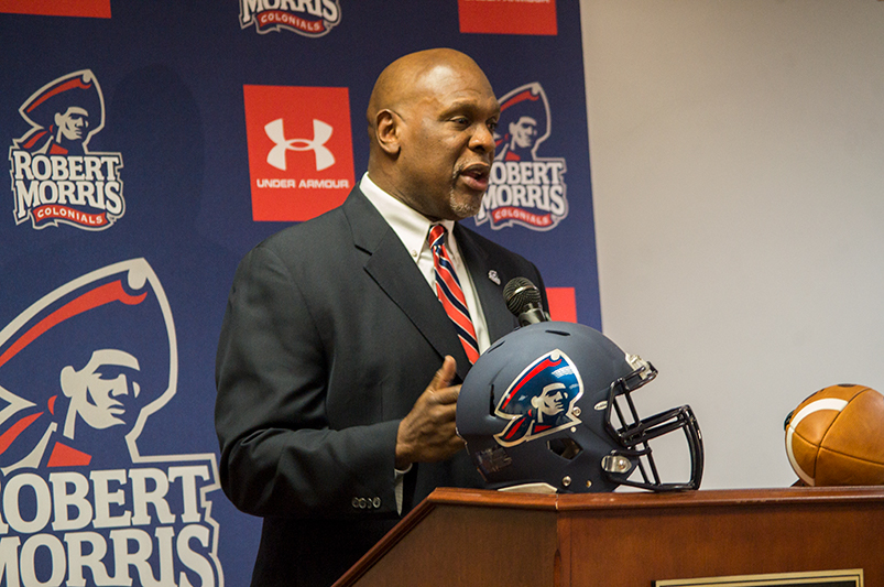 WATCH: RMU officially introduces Bernard Clark as head coach