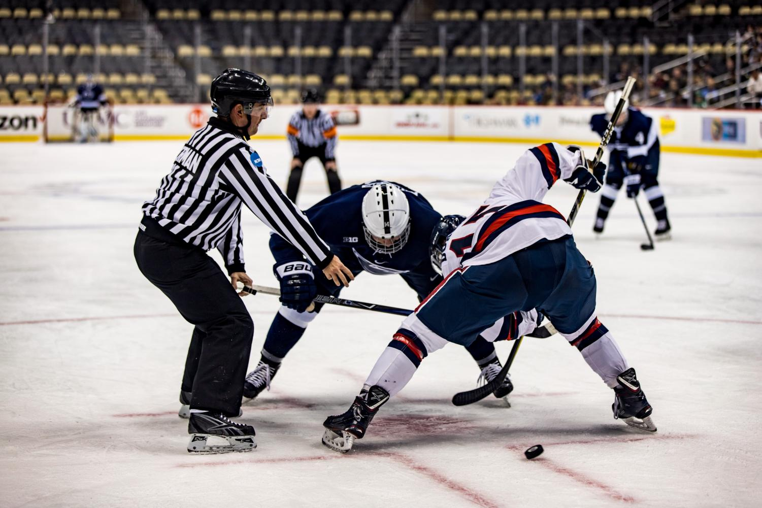 The RMU Men's Hockey Team took on PSU on Friday, December 8th, 2017.