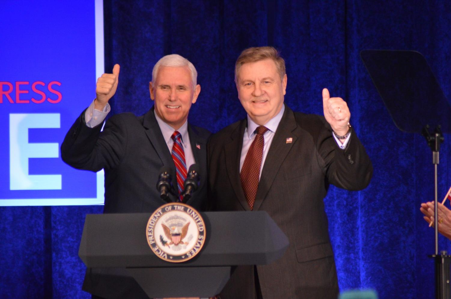 Vice President Mike Pence speaks for republican candidate Rick Saccone.