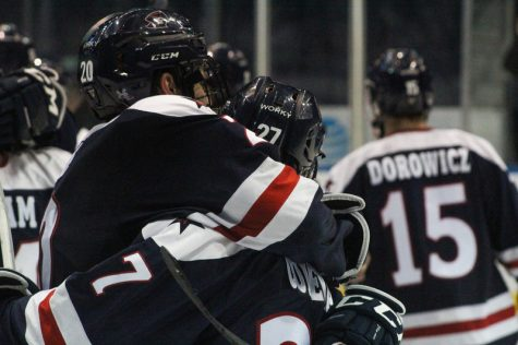 Louria sparks the Colonials OT victory as RMU advances to AHC title game