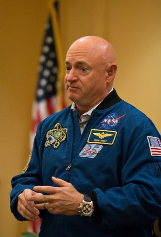 Astronaut Mark Kelly makes a stop at Yorktown Hall ahead of his appearance at the Pittsburgh Speaker series.