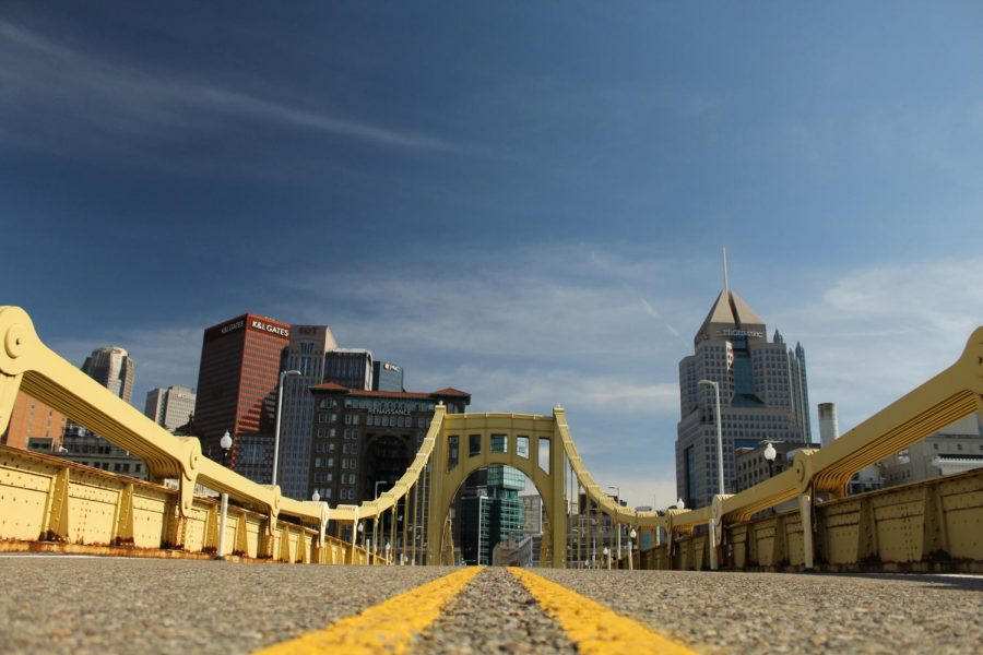 The+City+of+Pittsburgh+captured+from+the+Roberto+Clemente+Bridge.