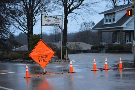 Landslide causes road closure in Moon Twp.