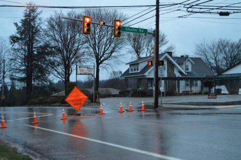 Brodhead Road closed due to landslide