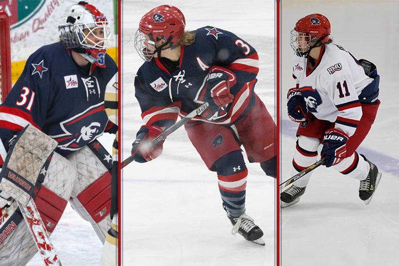 Three RMU women's hockey players selected in CWHL Draft