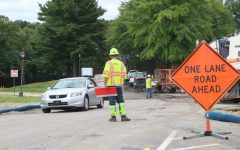 Construction causes delays at entrance of Robert Morris University