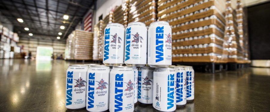 Anheuser-Busch Brewery cans water for Hurricane Florence relief