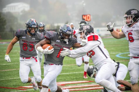 Gonzalez breaks RMU's single season touchdown record in loss to Saint Francis