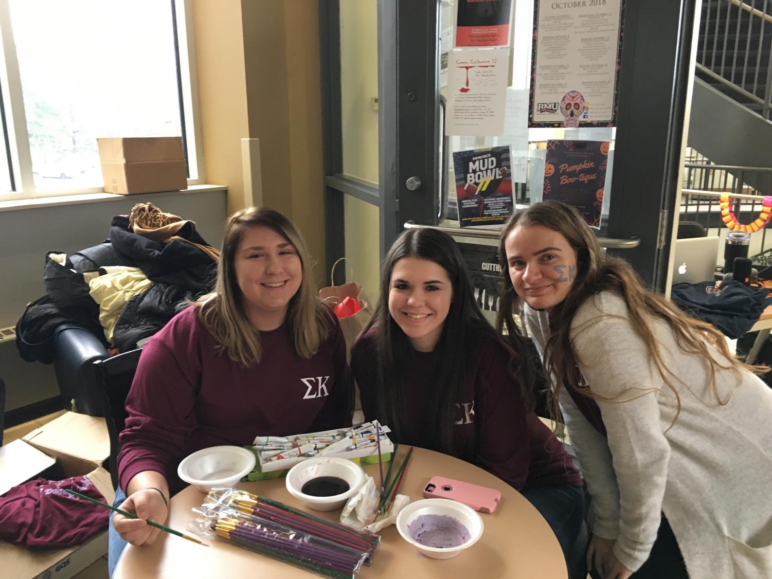 Pictured from left to right: Danielle Brunner, Samantha Wiatrak, Marissa Bryan. October 27, 2018.