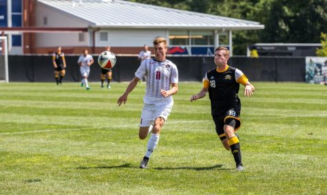 Men's soccer stays in the playoff chase after victory over Saint Francis
