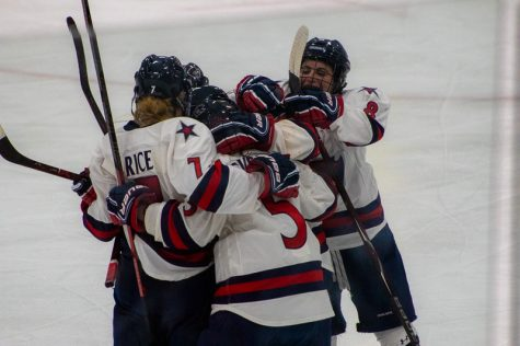 Gebhard leads Colonials to much needed win over Penn State 3-2