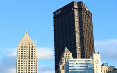 The UPMC building is one of the many distinct buildings in the Pittsburgh area.