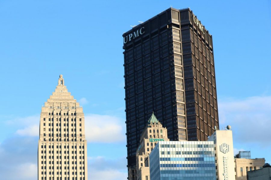 The+UPMC+building+is+one+of+the+many+distinct+buildings+in+the+Pittsburgh+area.
