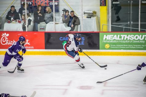 Men's hockey ends fall semester with tough loss to Holy Cross