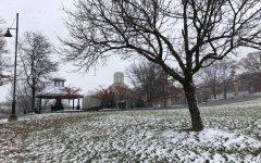Robert Morris University receives a fresh dusting of snow in Dec., 2018.
