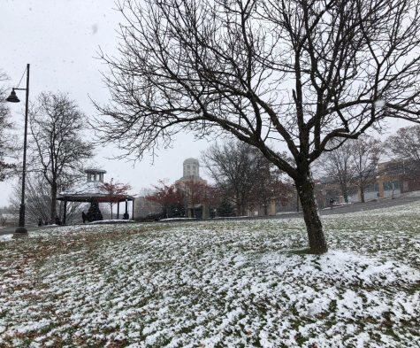 Robert Morris University receives a fresh dusting of snow in Dec., 2018.