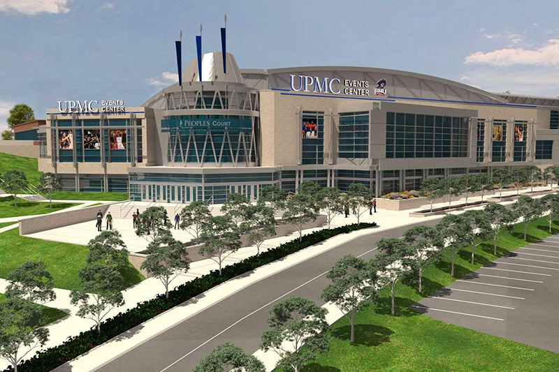 UPMC Events Center, coming in 2019. Photo Credit: (Robert Morris University)