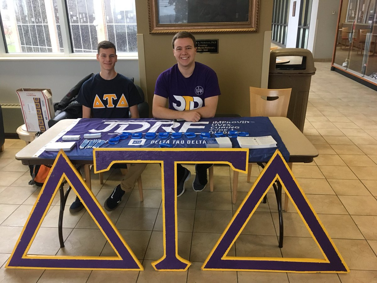 The Delts booth for JDRF. November 15, 2018. Photo courtesy of @RMU_Delts