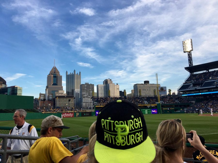 Downtown Pittsburgh skyline as seen from PNC Park, home of the Pittsburgh Pirates.
