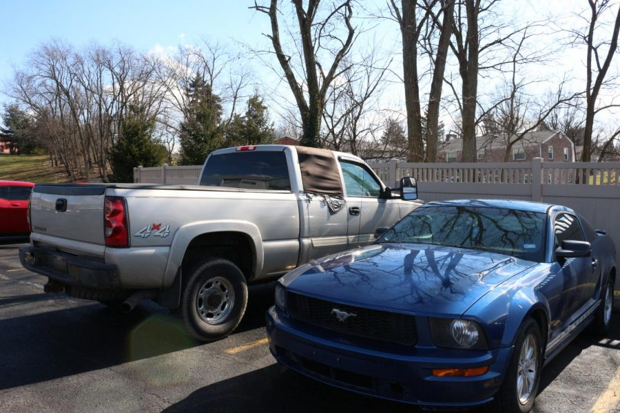 A vehicle parked at the Benjamin Rush Center lot was searched by Moon Township and Robert Morris Police on the morning of Feb. 15, 2019.