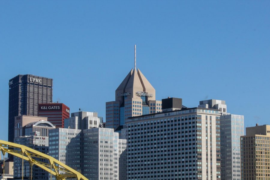 Downtown Pittsburgh as seen from the North Shore.
