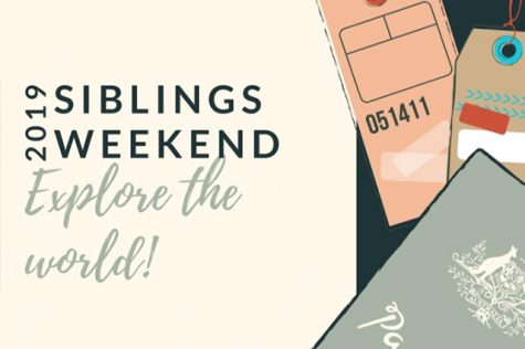 Promotional graphic for Siblings Weekend.