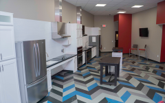 Newly remodeled Yorktown Hall kitchen opens for students to use in 2019. Photo Credit: (Office of Residence Life)