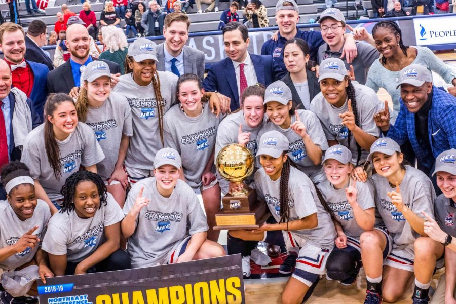 Conference+Champions%3A+Women%E2%80%99s+basketball+defeats+Saint+Francis+to+win+NEC+Tournament