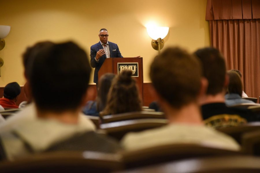 ESPN's Jay Harris visits RMU to speak about Greek Life