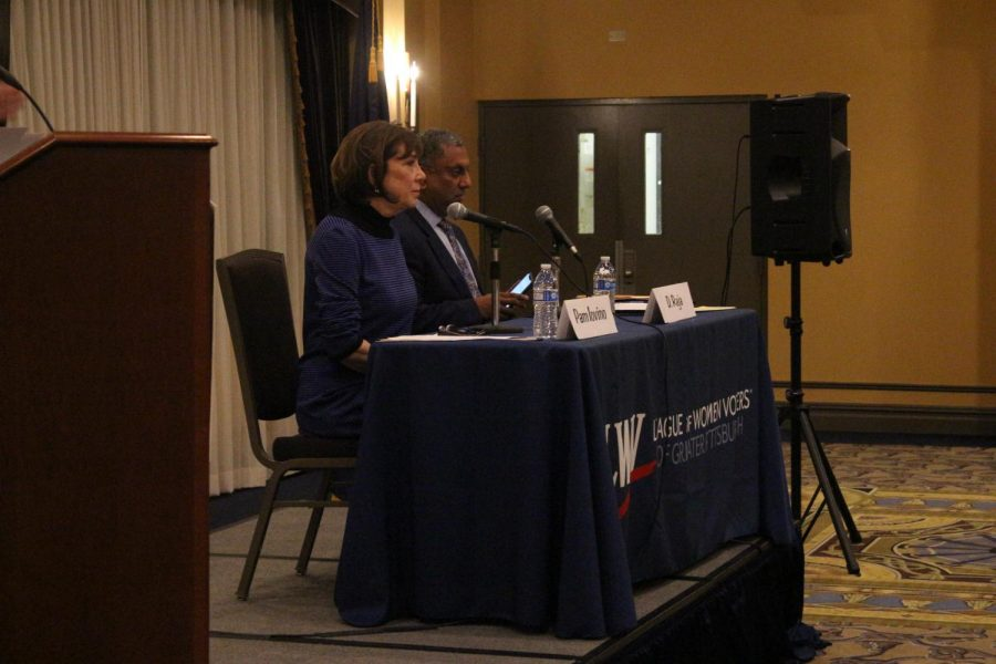 League of Women Voters' held a debate in Robert Morris University's Yorktown Hall the night of March 20, 2019.
