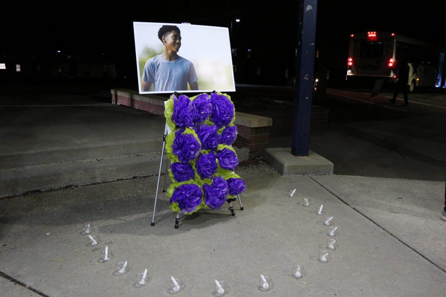 The+Robert+Morris+University+community+gathered+to+remember+and+honor+Antwon+Rose+Jr.%2C+who+was+shot+and+killed+by+Pittsburgh+Police+Officer+Michael+Rosdeld+in+June+2018.+Photo+Date%3A+March+29%2C+2019.+Photo+Credit%3A+%28RMU+Sentry+Media%2FSoundharjya+Babu%29