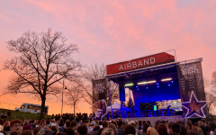 RMU students enjoy a scenic spring sunset April 12, 2019 during one of the school's oldest tradition: Airband. (David Auth/RMU Sentry Media)
