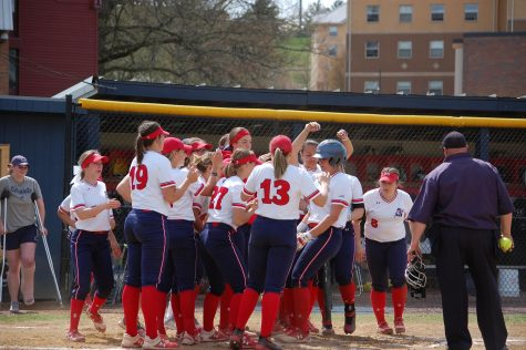 Softball splits another doubleheader