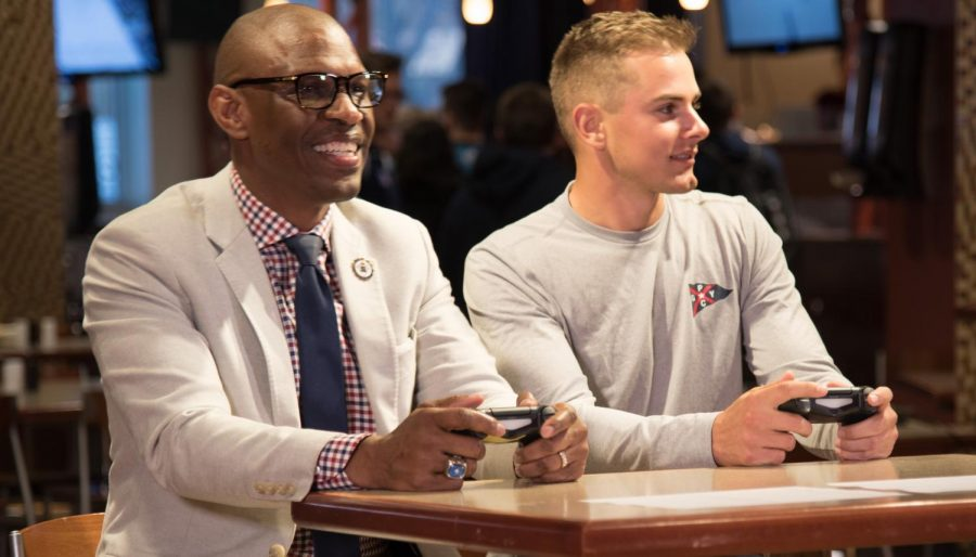 Esports Class hosted a tournaments featuring RMU President Howard on April 22, 2019.