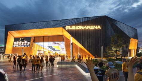 A digital rendering of the finished Fusion Arena