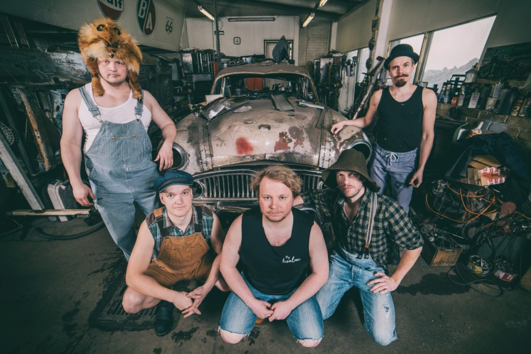 The five members of Steve 'n' Seagulls (pictured from top left) Hiltunen, Puikkonen, Remmel, Herman, and Pukki