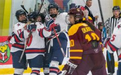 "Strong third period spoils Colonials' ""Teddy Bear Toss"""