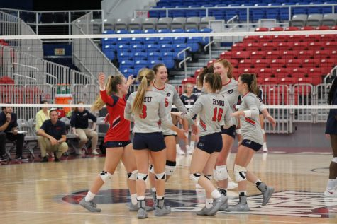 Volleyball beats Duquesne for first time in over a decade
