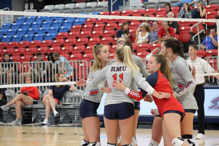 RMU+volleyball%27s+NEC+run+continues