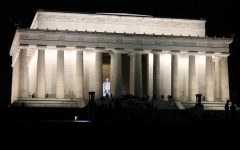 The Lincoln Memorial lit up on a night walk Photo credit: Jordan Redinger