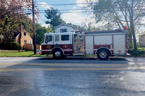 The Moon Township Volunteer Fire Department responds to  a structure fire on Moon Clinton Road.  Photo Credit: (RMU Sentry Media/ Soundharjya Babu)
