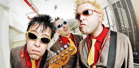 The Toy Dolls' current line up consists of (from left to right) The Mr. Amazing Duncan, Tommy Goober, and Olga