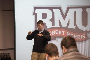 Former Congressman Keith Rothfus visits RMU