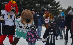 Pittsburgh mascots ice skate with families at Schenley Skating Rink